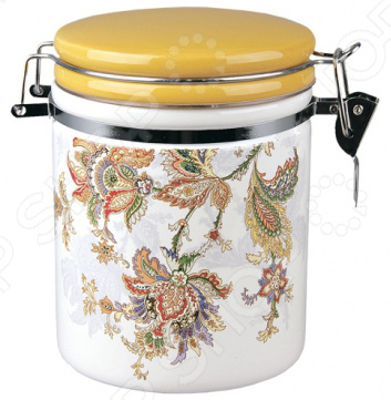 Банка для хранения сыпучих продуктов Коралл HC8600C-F60 «Марокканский цветок» банка для хранения сыпучих продуктов коралл hc8600c f60 марокканский цветок