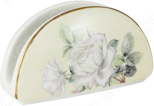 Салфетница Colombo «Белые розы»