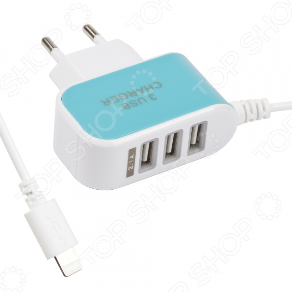 Устройство зарядное сетевое Apple 8 pin с 3 USB сетевое зарядное устройство belkin boost up кабель apple 8 pin белый