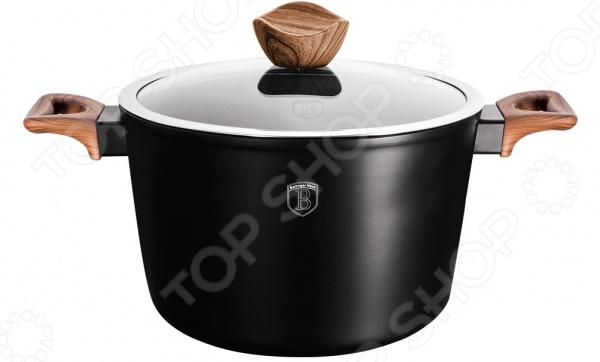 Кастрюля Berlinger Haus Forest Ebony Rosewood с носиком для слива сковорода berlinger haus ebony rosewood