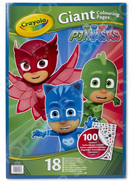 Раскраска с наклейками Crayola PJ Masks pj masks пазл для малышей команда алетт 04066