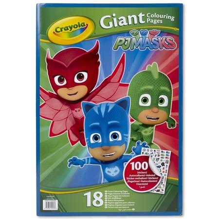 Купить Раскраска с наклейками Crayola PJ Masks