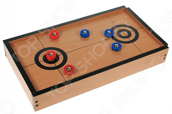 Керлинг настольный 42330 миниатюрная игра, имитирующая настоящую игру в керлинг. Основные правила остаются те же, что и в оригинальной игре. Игра отлично развивает ловкость, скорость и логическое мышление. Такая игра станет отличным подарком для юного любителя. Размер поля 40х23х6 см.