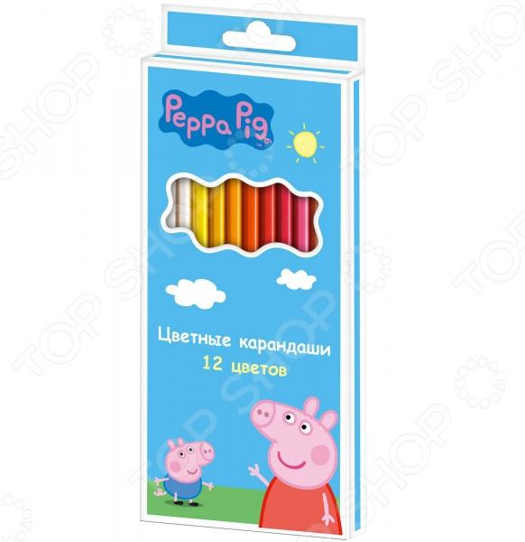 Набор цветных карандашей Peppa Pig «Свинка Пеппа»: 12 цветов peppa pig пластилин свинка пеппа 12 цветов