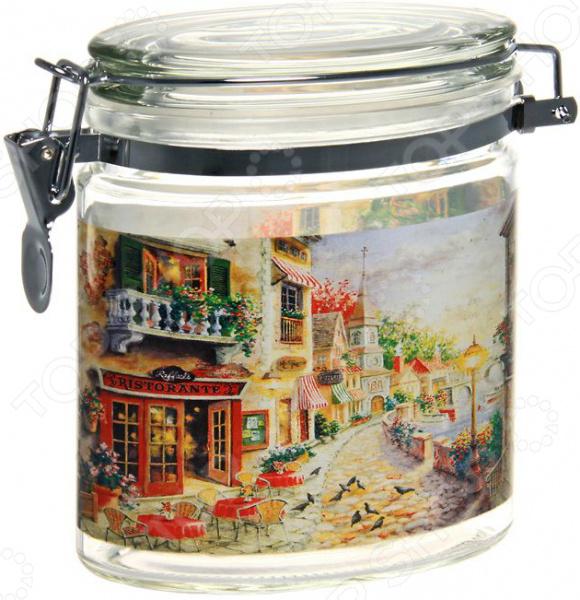 Банка для сыпучих продуктов Sinoglass «Итальянская улица»