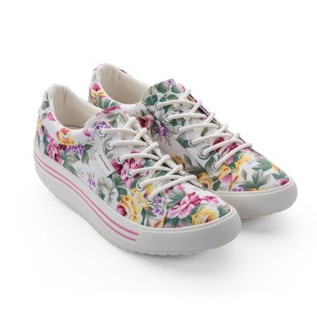 Купить Кеды Walkmaxx Comfort 4.0. Цвет: белый с цветами