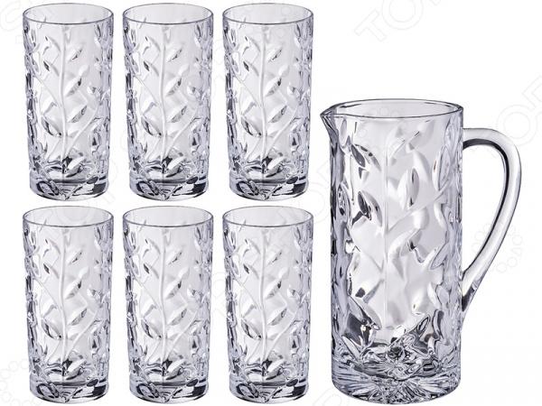 Набор для сока: графин и стаканы RCR «Лаурус» 305-601 набор стаканов rcr имперо 305 112