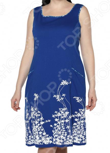 Платье Алтекс «Цветущий сад». Цвет: васильковый