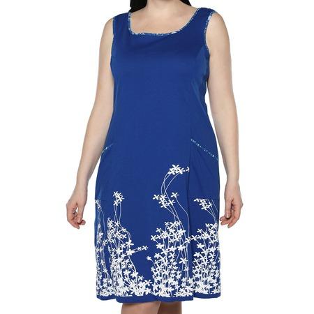 Купить Платье Алтекс «Цветущий сад». Цвет: васильковый