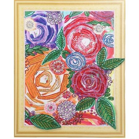 Купить Набор для творчества Color Kit «Алмазная мозаика». Рисунок: «Винтажные цветы»