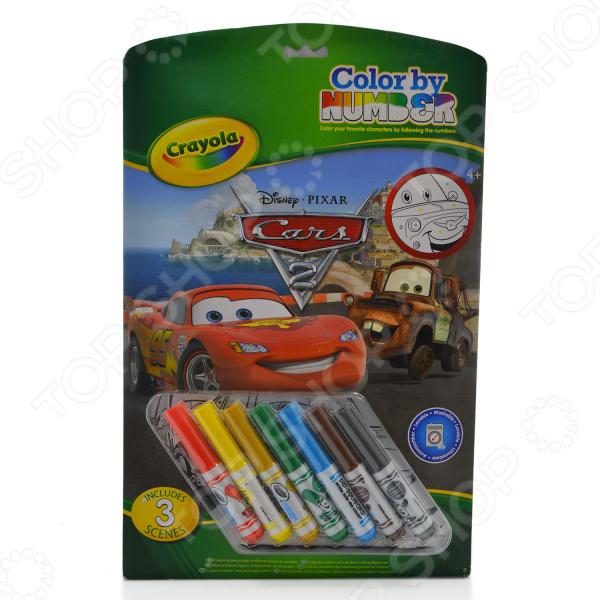 Раскраска по номерам Crayola «Тачки» раскраска crayola color wonder тачки 12787