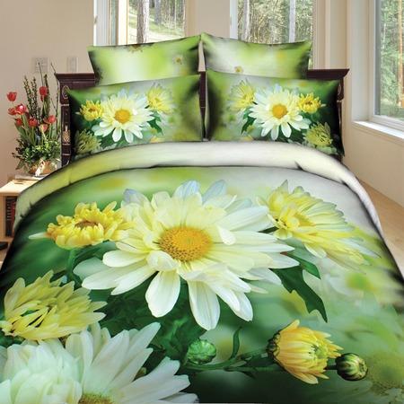Купить Комплект постельного белья Mango «Ромашки». 2-спальный