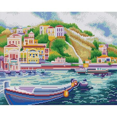 Купить Набор для творчества Color Kit «Алмазная мозаика». Рисунок: «Итальянский причал»