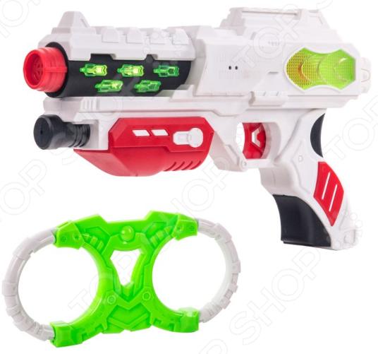 Набор игровой: наручники и бластер Fun Red со свето-звуковыми эффектами