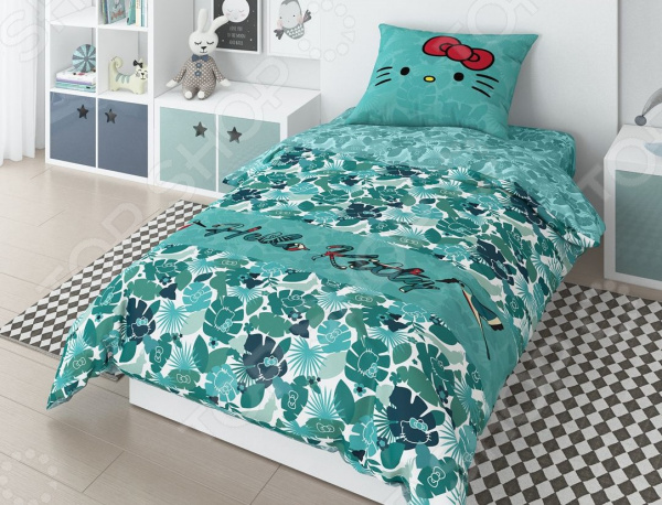 Детский комплект постельного белья Hello Kitty Tropic Green комплект постельного белья factory outlet hello kitty