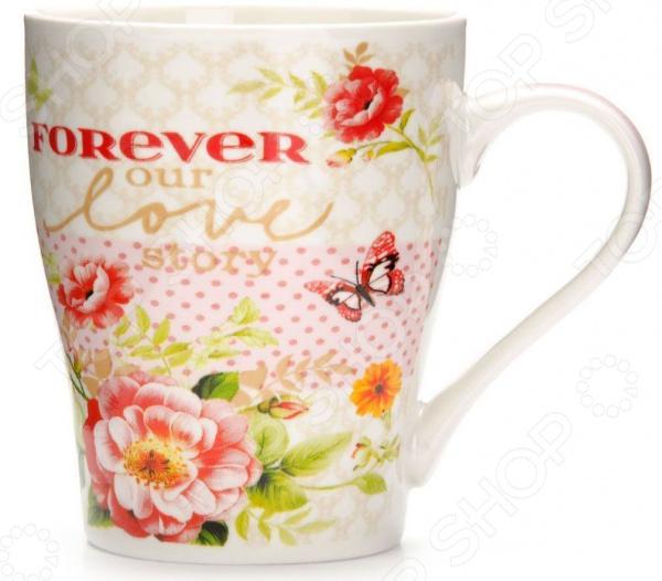 Кружка Loraine «Цветы» 26581