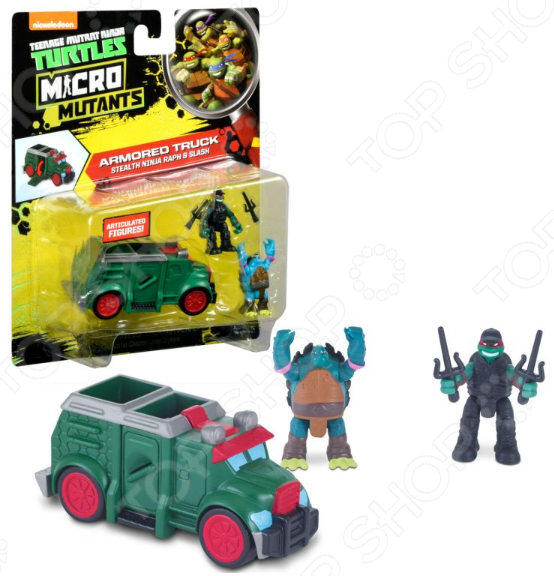 Игровой набор Nickelodeon Armoured Truck. Stealth Ninja Raph&Slash