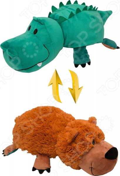 Мягкая игрушка 1 Toy «Вывернушка 2в1: Аллигатор-Медвежонок»