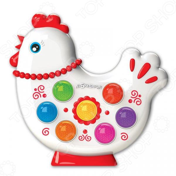 Игрушка обучающая музыкальная Азбукварик «Курочка. Веселушки» lilliputiens курочка офелия музыкальная игрушка