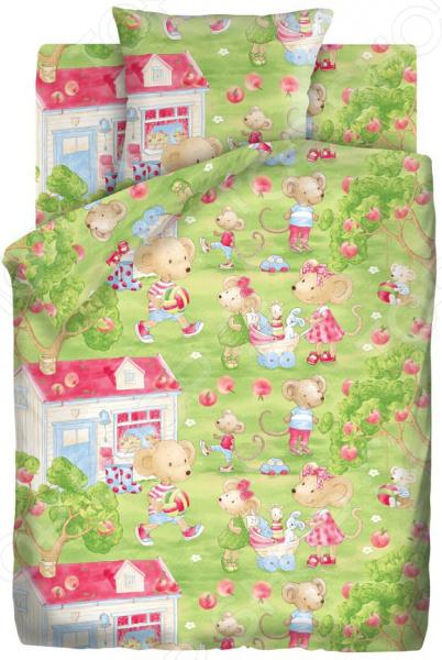 Детский комплект постельного белья Непоседа «Мышата» детский комплект постельного белья непоседа на рыбалке
