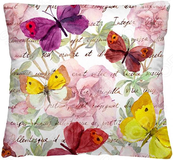 Подушка декоративная Волшебная ночь «Пестрые бабочки»