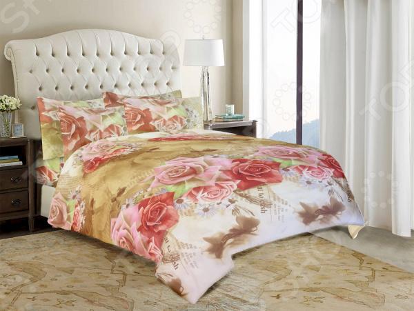 Комплект постельного белья «Прелестные розы». 1,5-спальный