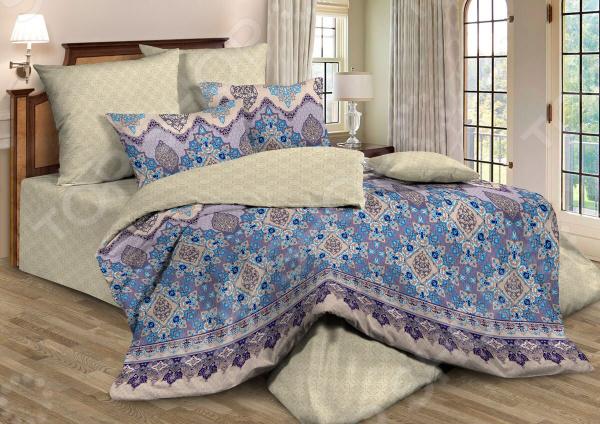 Комплект постельного белья Guten Morgen 664. Цвет: сиреневый, бежевый