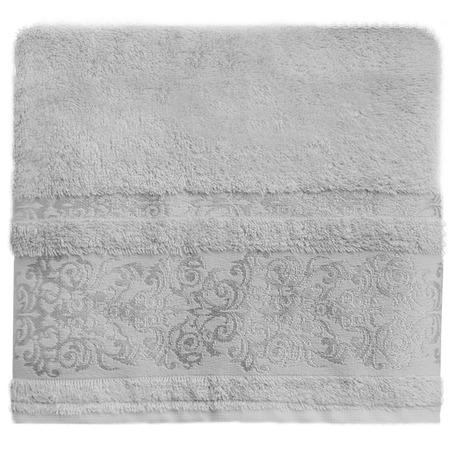 Купить Полотенце банное BONITA «Дамаск». Цвет: серый