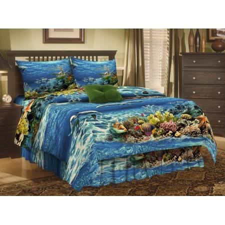 Купить Комплект постельного белья Диана «Морские глубины». 1,5-спальный
