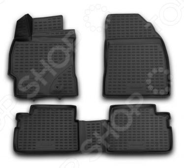 Комплект 3D ковриков в салон автомобиля Novline-Autofamily Toyota Corolla 2007-2013