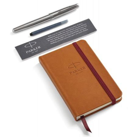 Купить Набор подарочный: ручка перьевая и блокнот Parker Sonnet Stainless Steel CT
