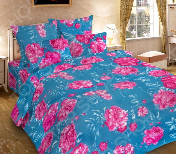 Комплект постельного белья DIANA P&W «Алый пион». 1,5 спальный