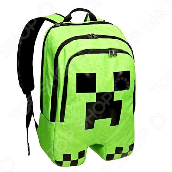 Рюкзак детский Minecraft Creeper мои любимые многофункциональные большие плечи mommy пакет будет выпущен более чем один рюкзак купе za17988 красный