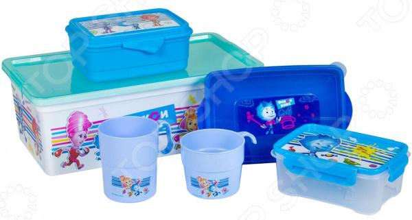 Набор: ланч-боксы, кружки и контейнеры для хранения Полимербыт SGHPBKP25 «Фиксики»