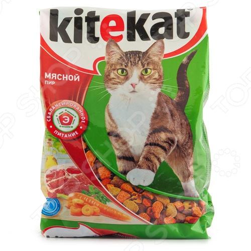 Корм сухой для кошек Kitekat «Мясной пир»