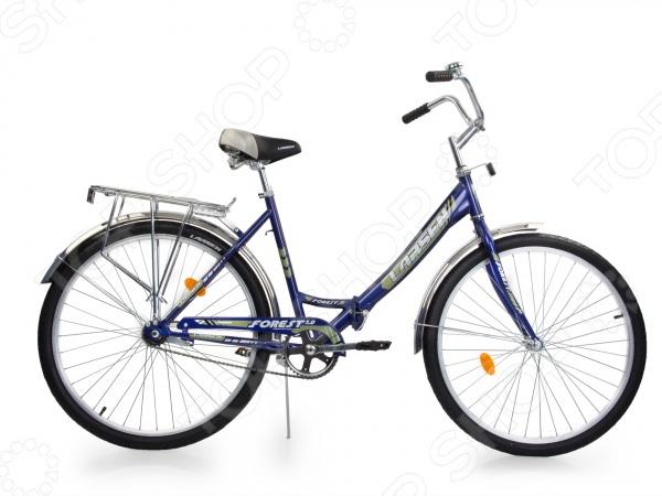 Велосипед городской Larsen Forest 1.0 великолепная складная модель, которая отлично подойдет для взрослых ростом 165-180 и весом и не более 80 кг. Данная модель идеально подойдет для катания по парковым дорожкам, тропинкам или городским дорогам. Велосипед имеет продуманную конструкцию со стильным дизайном, которая обеспечит максимальную безопасность и комфорт. Прочная стальная рама также оснащена жесткой вилкой из стали, которая менее подвержена механическим повреждениям, коррозии и ржавчине в сырую погоду. Полноценная защита цепи исключает попадание в неё одежды и малейшую возможность случайно поцарапаться или пораниться. Другие особенности модели Larsen Forest 1.0:  складная конструкция рамы гарантирует компактную перевозку и хранение велосипеда;  мягкое подгруженное седло придает комфорт и делает прогулки ещё более удобными;  высота руля регулируется;  колеса с покрышками Wanda и алюминиевыми ободами обладают отличной маневренностью, накатом и ускорением;  ножной педальный тормоз отличается простотой в использовании;  световые отражатели делают велосипедиста заметным для автомобилистов;  в конструкции предусмотрены полноразмерные крылья, которые спасают от грязи. Данная модель подойдет для новичков и любителей, которые ещё неуверенно держатся на этом виде транспорта. Достаточно широкие колеса обеспечивают прекрасное сцепление с дорожным грунтом, а простая конструкция руля и рамы, ножные тормоза позволят быстро освоиться.