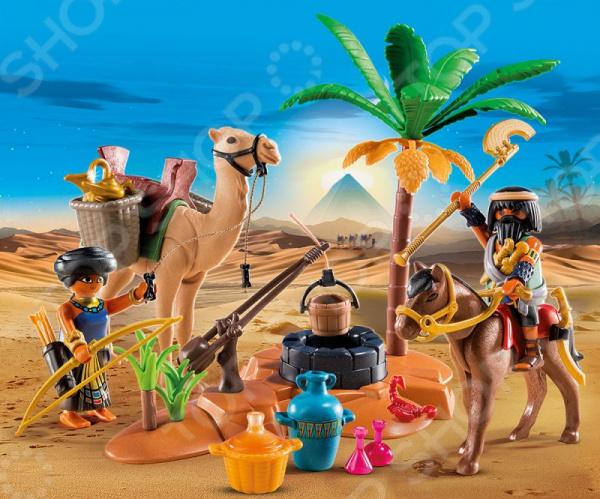 Конструктор игровой Playmobil «Римляне и Египтяне: Лагерь Расхитителей гробниц» playmobil игровой набор римляне и египтяне римское войско