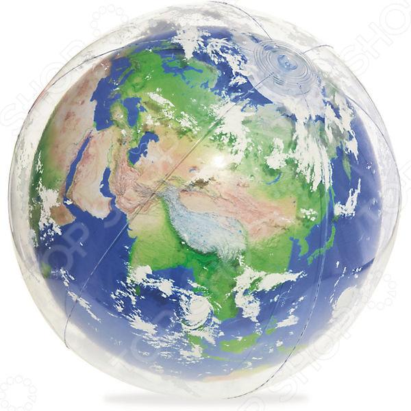 Мяч надувной с подсветкой Bestway «Земля» мяч пляжный 41см bestway 31004