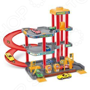 Трек гоночный Dave Toy «Парковка» ecoiffier игровой набор конструктор гоночный трек 94 элемента