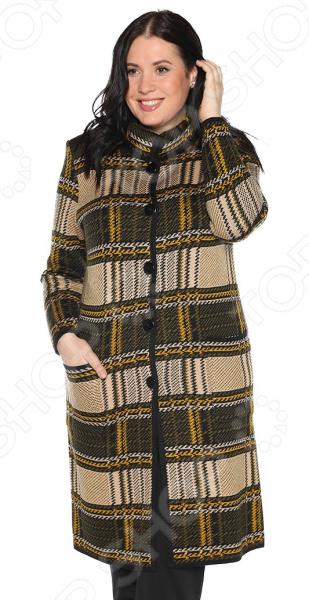 Пальто Milana Style «Хозяйка осени». Цвет: горчичный юбка milana style цвет черный