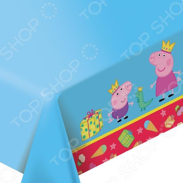Скатерть праздничная Peppa Pig «Пеппа-принцесса»