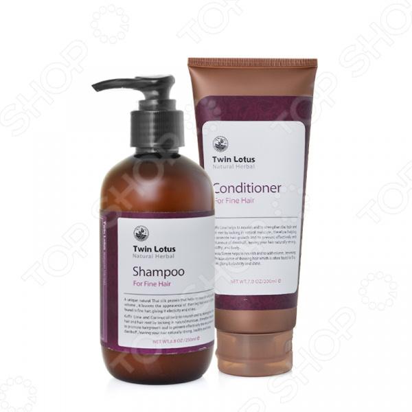 Набор: шампунь и кондиционер для нормальных волос Twin Lotus Natural Herbs