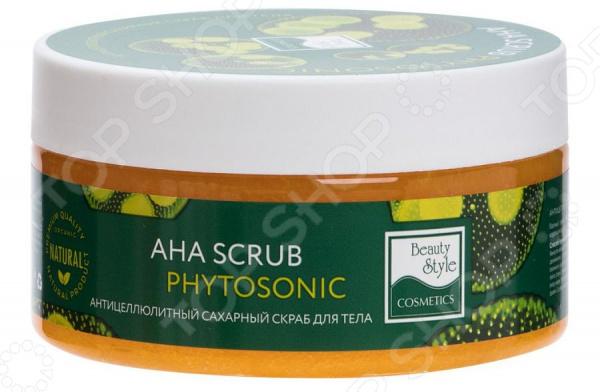 Скраб сахарный антицеллюлитный Beauty Style AHA Scrub Phytosoniс beauty style кислородонасыщающий сахарный скраб alga scrub artichoke 200мл