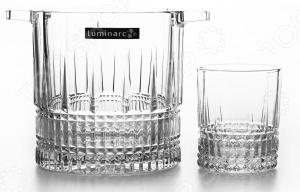 Набор для виски: емкость для льда и стаканы Luminarc Elise