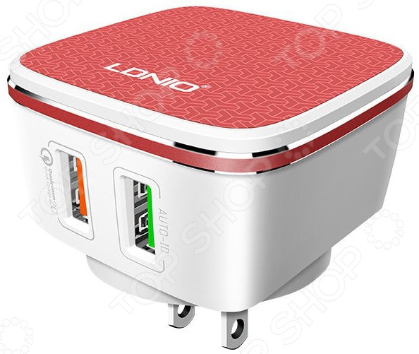 Устройство зарядное сетевое Ldnio Apple 8 pin A2405Q сетевое зарядное устройство belkin boost up кабель apple 8 pin белый