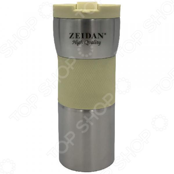 Термокружка Zeidan Z 9056 термокружка zeidan z 9056 0 45л серебристый жёлтый