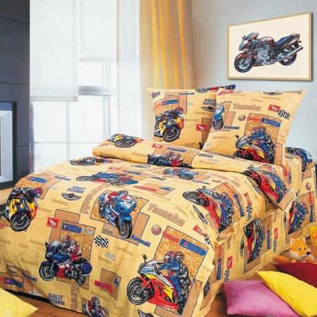 Купить Комплект постельного белья ТексДизайн «Мото-спорт». 1,5-спальный