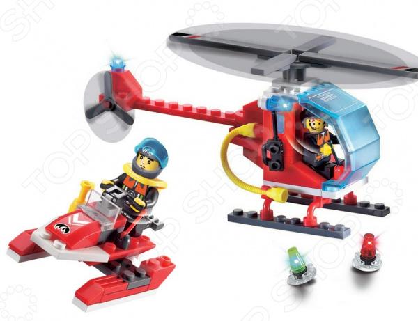 Конструктор игровой Brick «Пожарный вертолет и скутер» 1717083