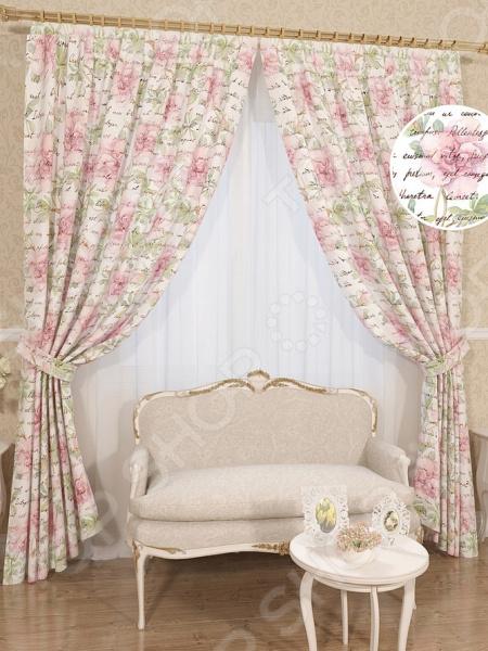 Комплект штор Сирень «Демина» комплект штор с покрывалом для спальни в москве