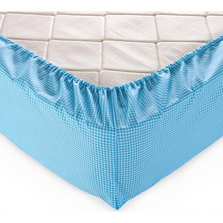 Купить Простыня на резинке ТексДизайн «Текстура». Цвет: голубой